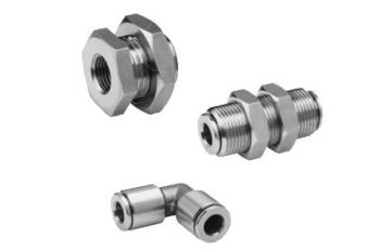 Stainless Steel Pneumatic Push-In Fittings